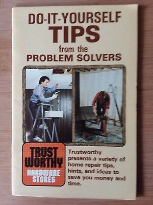Vtg Trustworthy Hardware Stores Do It Yourself Tips from the Problem Solvers