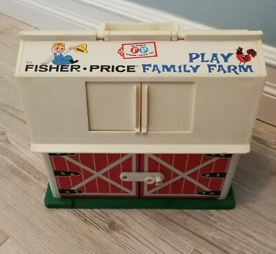 Fisher Price Barn 1967 Vintage Toy Play Family Farm #915