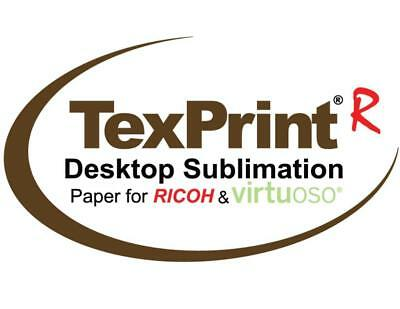 """Sublimation Transfer Paper Texprint-R 110 Sheets 8.5"""" x 11"""" GENUINE.    SAVE 33%"""