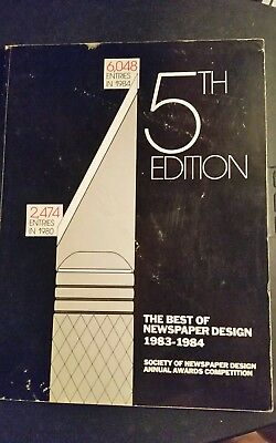 Best of Newspaper Design, 5th edition, 1983-1984, FREE SHIPPING