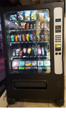 USI Combo Snack and Drink Vending Machine _ Holds up to 40 snacks + 6 cans