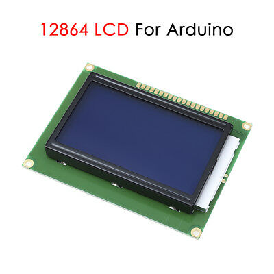 1Pcs ST7920 12864 128x64 LCD Serial LCM Display Module White on Blue Backlight
