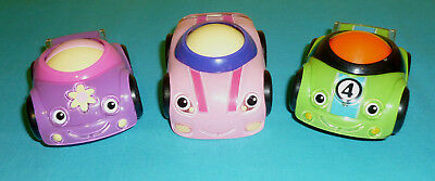 Fisher Price Lil Zoomers Purple Car Pink Car & Green Race Car