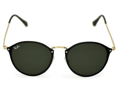 81eb59ebf5 RAY-BAN Sunglasses Blaze Round Gold Frame Green Classic Lens RB3574N 001 71  59mm