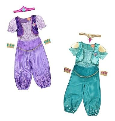 George Shimmer & Shine Kids Genie Fancy Dress Outfit Book Day Costume