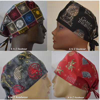 The Game of Thrones Collection Unisex Surgical Scrub Hat Chemo Cap