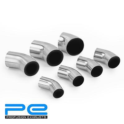 45 Degree 304 Stainless Steel Polished Mandrel Exhaust Pipe Bend Elbow