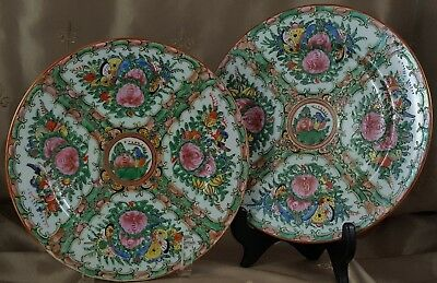 VINTAGE Pink Lotus, BlueBird & ButterFly PLATES Hand Painted MADE IN CHINA