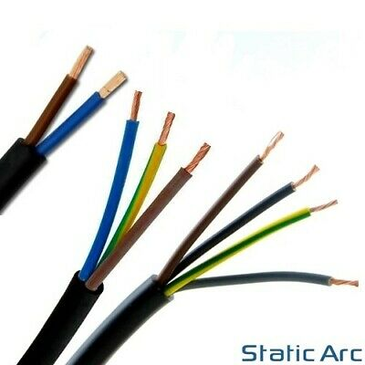 2/3/4 CORE ELECTRICAL FLEX CABLE WIRE LENGTH TWIN TRIPLE 0.75/1/1.5/2.5mm2 230V