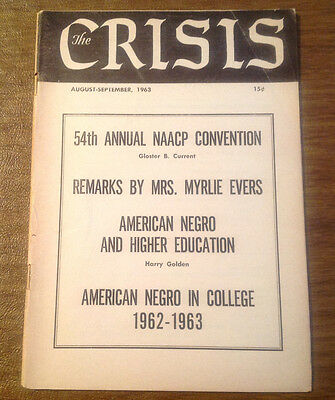 The Crisis: A Record of Darker Races NAACP Magazine Aug-Sept 1963, Civil Rights