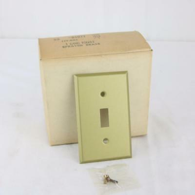 25 VTG Solid Brass Light Switch Wall Plate Covers Sprayed Matte Finish NOS