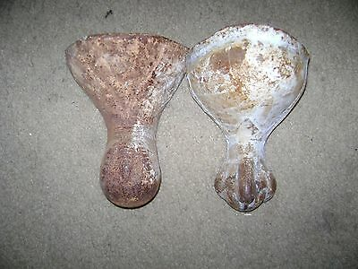 Vintage Cast Iron Claw Tub Feet...Set of 2...Not Matching...Lot 3