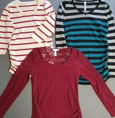 Used lot of maternity tops clothing size Medium