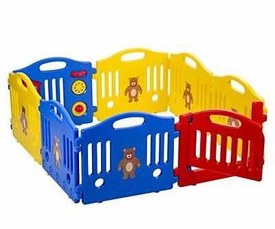 New Baby Safety Fun Playpen Kids 8 Panel Play Center Yard Activity Center 358