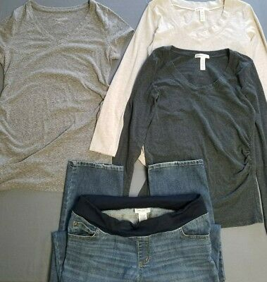 Used clothing lot maternity clothes size medium