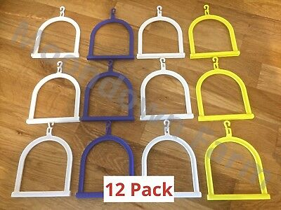 12 x Medium Plastic Swing Bird Toy - Budgie Finch Canary Accessories Cage