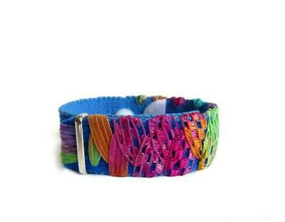 Anxiety/Stress Relief Bracelet (single band) Blue Fiesta
