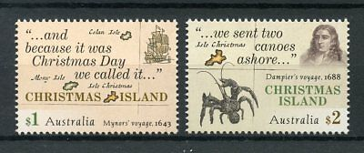Christmas Island Australia 2017 MNH Early Voyages Mynors Dampier 2v Set Stamps