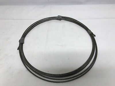 """Galvanized Steel Wire Strand Rope, 3/16"""" Diameter x 26' Total Length"""