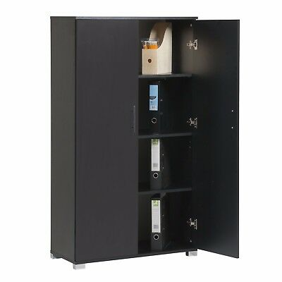 Black Office furniture stationary storage cupboard two door filing cabinets