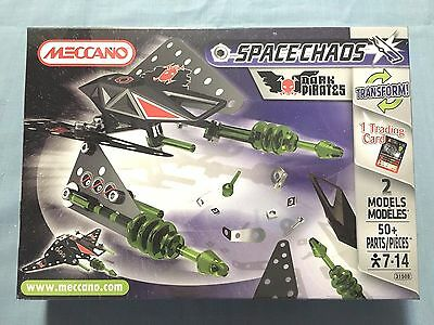 Meccano Space Chaos Dark Pirates #3150B 50 Pieces New Sealed