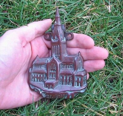 Antique reclaimed bronze Glasgow Cathedral Scotland door knocker 19th Century