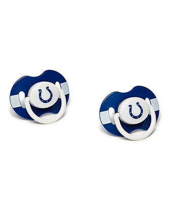 Indianapolis Colts Orthodontic 2-pack Pacifier Set NWT