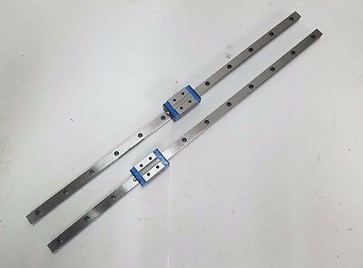 Set of 2 IKO LWH12SL Linear Guide Bearing 2 Rails and 2 Block MHD12SL CNC Router