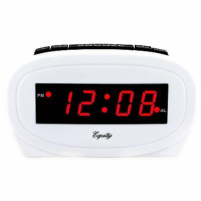 "30227 Equity by La Crosse Electric 0.6"" Red LED Display Digital Alarm Clock"