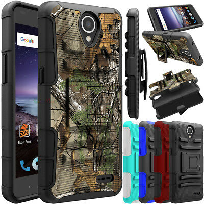 For ZTE Maven 3/ Z835 Phone Case Hybrid Belt Clip Holster Stand Hard Armor Cover