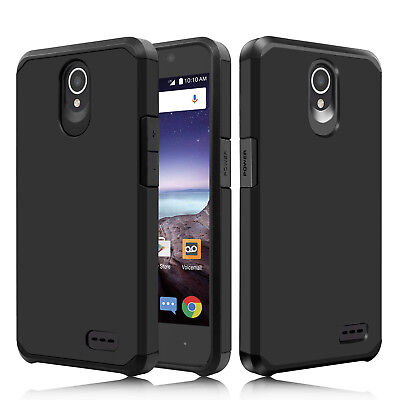 For ZTE Maven 3 Z835/Overture 3 Hybrid Rugged Rubber Slim Armor Phone Case Cover