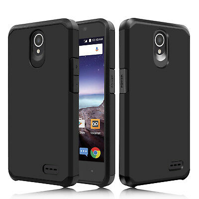 For ZTE Maven 3 Z835/Overture 3 Hybrid Shockproof Rubber Impact Armor Case Cover