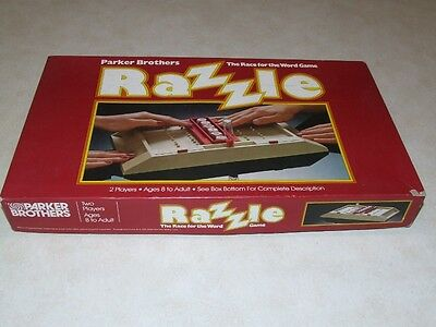 Razzle Board Game - The Race for the Word Game - Parker Brothers