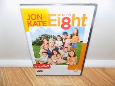 Jon  Kate Plus Ei8ht - Seasons 1- 2 (DVD, 2010, 2-Disc Set) BRAND NEW