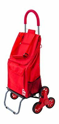 Trolley Dolly Stair Climber Red Grocery Foldable Cart Condo Apartment