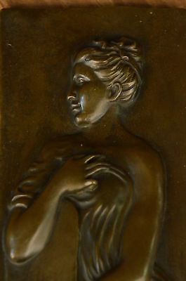 Bronze Sculpture Statue Original Real Metal Nouveau Lady With Jug Of Water MB