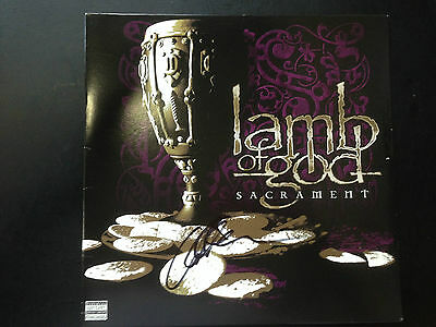 "LAMB OF GOD : SACRAMENT:SIGNED BY ""Willie Adler"" LP"