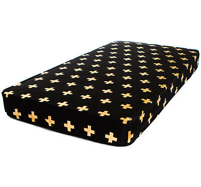 Bambella Designs Fitted Cot Sheet- Gold Cross