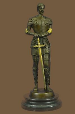 Bronze Sculpture Statue Handmade  Deco by Bouillot Knight Medieval Gladiat MB