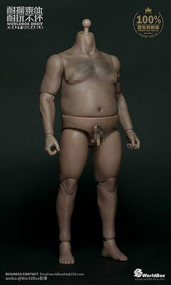 WorldBox 1/6 Durable Male Figure Fat Plump Body AT018
