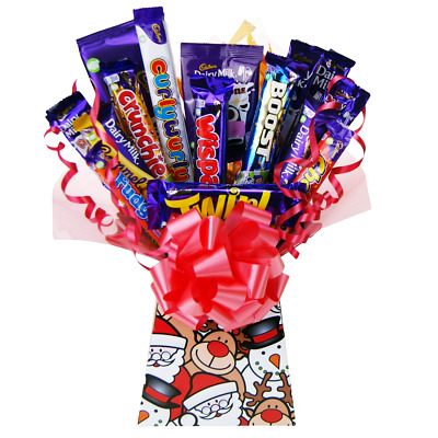 Cadburys Christmas Treats Chocolate Bouquet Tree Explosion Perfect Xmas Gift