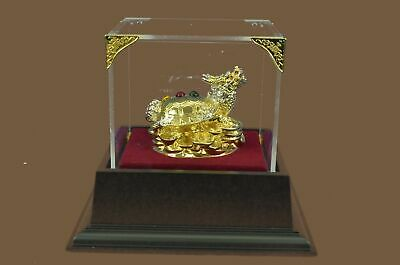 Bronze Sculpture Statue Genuine 24K Gold Silver Plated Dragon Classic work MB