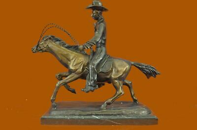 Bronze Frederic REMINGTON Cowboy on Horse Western Old West Figure Sculpture MB