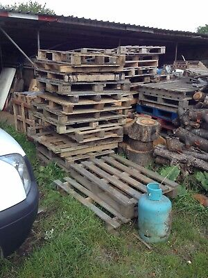 Wooden Pallets for sale - Firewood upcycle logs log burner wood
