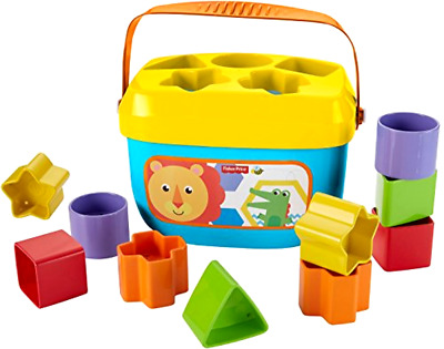 Babys First Blocks with 10 Colorful Blocks to Sort Stack and Drop and a