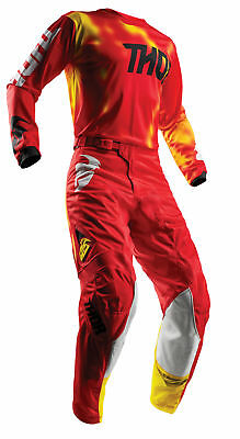 THOR MX Motocross Mens 2018 PULSE AIR RADIATE Jersey/Pants Kit (Red) Choose Size