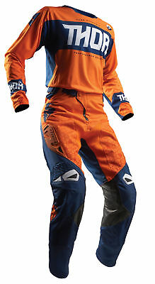 THOR MX Motocross Men's 2018 FUSE BION Jersey/Pants Kit (Red/Orange) Choose Size