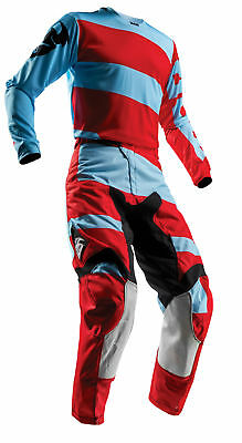 THOR MX Motocross Men's 2018 PULSE LEVEL Jersey/Pants Kit (Red/Blue) Choose Size