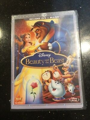 Beauty and the Beast Three-Disc Diamond Edition Blu-ray/DVD Combo in DVD Packag