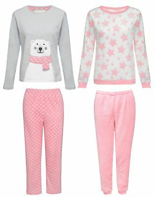 Kids Boys Girls Soft Pyjamas Sleepwear Pink Nightwear PJs Sets Sizes 7-13 yrs
